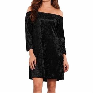 BLVD off shoulder velvet dress large
